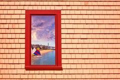 MOR för Cape Cod Provincetown fönsterphotomount Arkivbilder