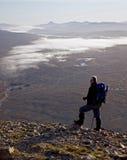 mor hiker buachaille etive Стоковая Фотография