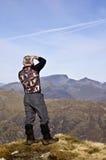 mor hiker buachaille etive Стоковая Фотография RF