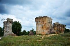 Mor Hin Khao, ή ταϊλανδικό Stonehenge στην εθνική ισοτιμία Phu Laenkha Στοκ Φωτογραφίες