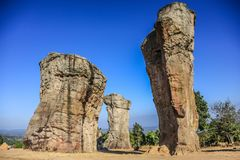 Mor Hin Khao. Chaiyaphum Stonehenge of Thailand royalty free stock photos