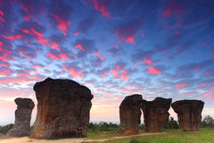 Mor Hin Khao, Stonehenge of Thailand Stock Photos