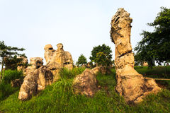 Mor hin khao, stonehenge of thailand Royalty Free Stock Photos