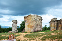 Mor Hin Khao, or Thai Stonehenge in the Phu Laenkha National Par Stock Images