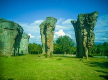 MOR HIN KHAOW. Chaiyaphum province or the Stonehenge of Thailand royalty free stock photography