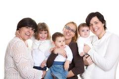 Mor och barngrupp Fotografering för Bildbyråer