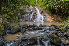 Mor Pang waterfall in Mae Hong Sorn. Province of Thailand Royalty Free Stock Images