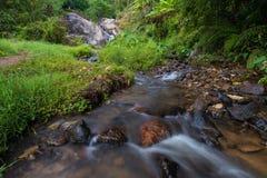 Mor Pang waterfall in Mae Hong Sorn. Province of Thailand Royalty Free Stock Photos