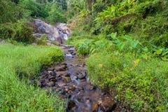 Mor Pang waterfall in Mae Hong Sorn. Province of Thailand Royalty Free Stock Image