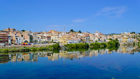 Mora D'Ebre. Is the old catalonian town on the river Ebre royalty free stock photography