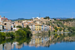 Mora D'Ebre. Is the old catalonian town on the river Ebre royalty free stock photos