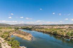 Mora de Ebro village at Tarragona, Spain Stock Images