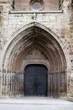 Mora de Rubielos, chiesa di parrocchia Fotografia Stock Libera da Diritti