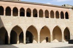 Mora de Rubielos, cortile del castello immagine stock