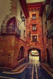 Mora de Rubielos-Dorf in Teruel Spanien stockbilder