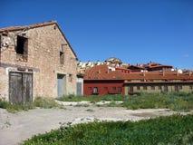 Mora DE Rubielos dorp, Teruel Aragon Stock Foto