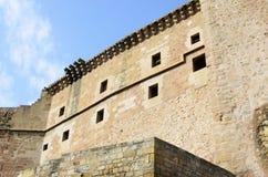 Mora de Rubielos, kasteel Stock Afbeeldingen