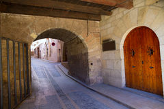 Mora de Rubielos in Teruel Aragon stonewall village Royalty Free Stock Images