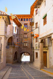 Mora de Rubielos in Teruel Aragon stonewall village Stock Images