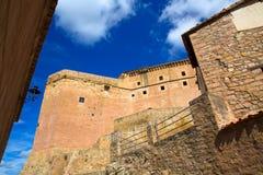Mora de Rubielos Teruel Muslim Castle in Aragon Spain Stock Images