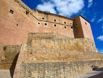 Mora de Rubielos Teruel Muslim Castle in Aragon Spain Royalty Free Stock Image
