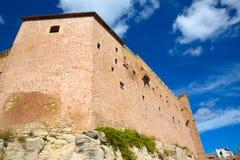 Mora de Rubielos Teruel Muslim Castle in Aragon Spain Stock Photos
