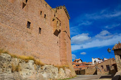 Mora de Rubielos Teruel Muslim Castle in Aragon Spain Stock Image
