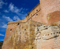 Mora de Rubielos Teruel Muslim Castle in Aragon Spain Stock Photography