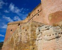Mora De Rubielos Teruel Muslim Castle In Aragon Spain Stock Photography