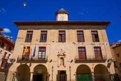 Mora de Rubielos Teruel Town Hall square Aragon Stock Photo
