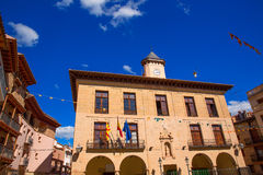 Mora de Rubielos Teruel Town Hall square Aragon Stock Image