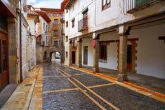 Mora de Rubielos village in Teruel Spain. Located on Gudar Javalambre Sierra stock image
