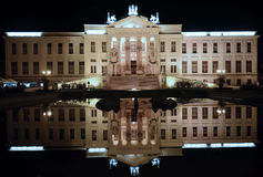 Mora Ferenc Museum at night in Szeged Royalty Free Stock Photo