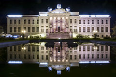 Mora Ferenc Museum at night in Szeged Stock Photography