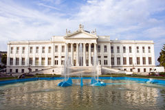 Mora Museum in Szeged. Classicist building in Szeged and the blue sky stock photography