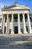 Mora Museum in Szeged. Classicist building in Szeged and the blue sky stock photos