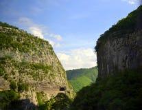Moraca河峡谷,黑山 免版税库存照片