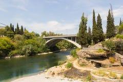 Moraca bridge Royalty Free Stock Image