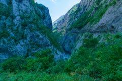 Moraca flod och kanjon Royaltyfri Foto