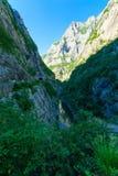Moraca flod och kanjon Arkivbild