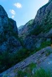 Moraca flod och kanjon Royaltyfri Bild