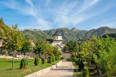 Moraca monastery in Montenegro royalty free stock images