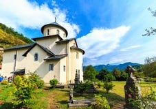 Moraca Monastery, a Serbian Orthodox church in Kolasin, Montenegro. stock images