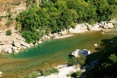 Moraca river canyon. In Montenegro stock photos