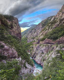 Moraca River Canyon. Montenegro. royalty free stock photo