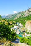 Moraca River and valley Stock Images