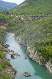 Moracha River Canyon. Clear water of Moracha river, Montenegro Stock Photo