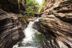 Morada делает водопад Sol в chapada делает veadeiros стоковая фотография rf