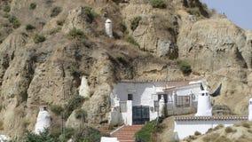 Moradia de caverna em Guadix, Espanha Foto de Stock