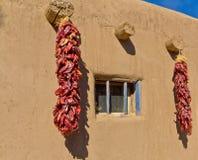 Moradia e pimentões do sudoeste de Adobe foto de stock royalty free